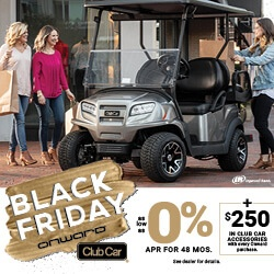 Onward Black Friday Financing Promotion Digital Display Ad 250x250 - Club Car Tempo