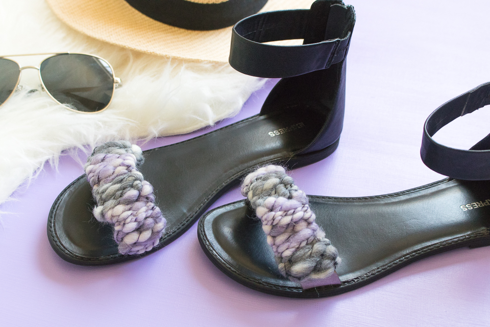 Quick Fix! DIY Woven Sandal Straps | Club Crafted