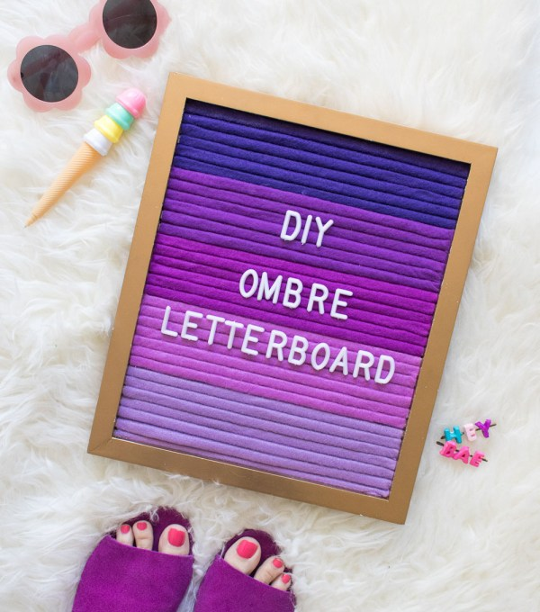 DIY Ombre Letterboard   Club Crafted
