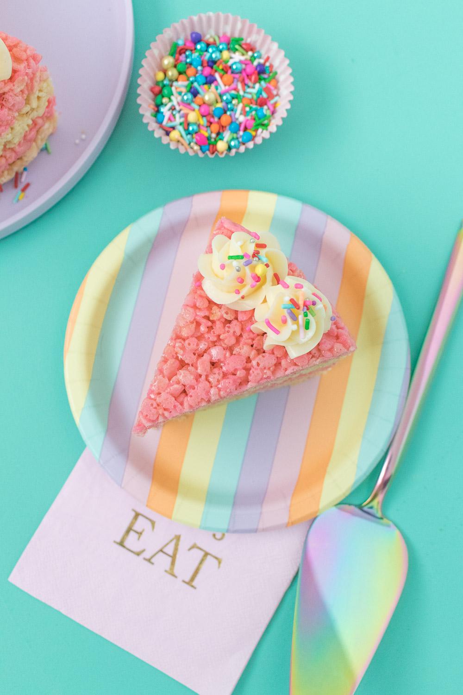 Cake Slice Rice Krispies Treats   Club Crafted