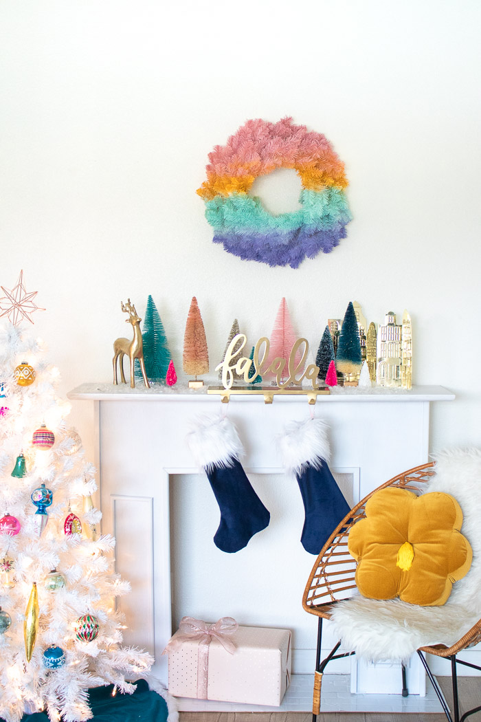 DIY Gradient Wreath for the Holidays | Club Crafted