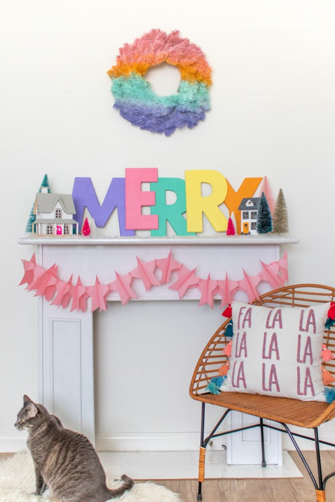 Large Colorful Merry Sign for Christmas Decor | Club Crafted