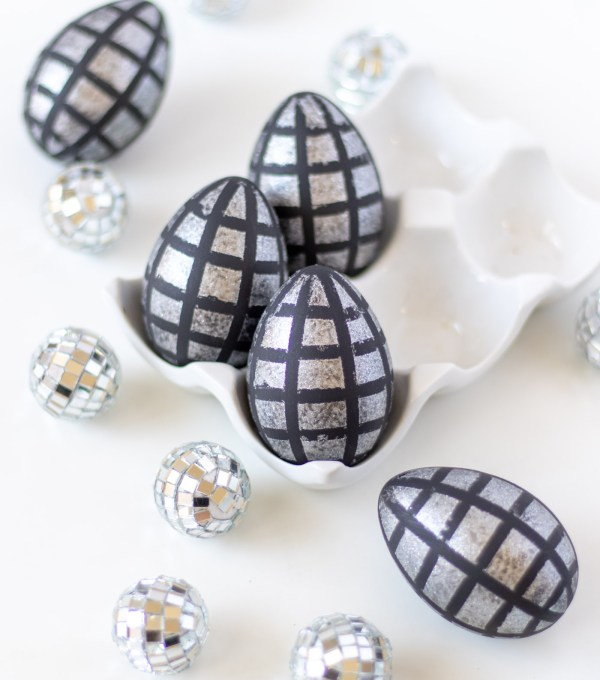 DIY Disco Ball Easter Eggs   Club Crafted