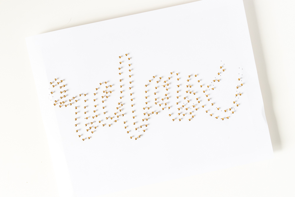 printable template hammered with nails