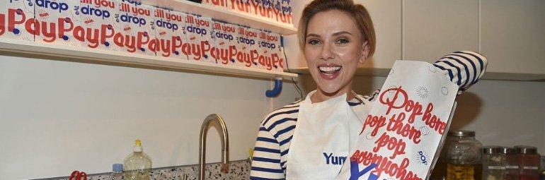 loja de pipoca da atriz Scarlett Johansson