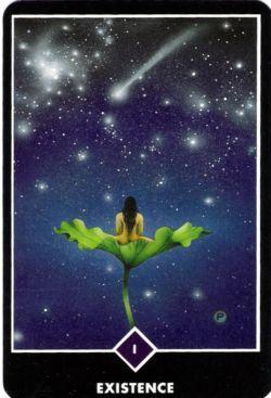1. Existência (O Mago) no Osho Zen Tarot de Ma Deva Padma