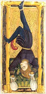 O pendurado no tarô Gringonneur ou Charles VI (1392)