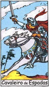 Resultado de imagem para cav espadas tarot