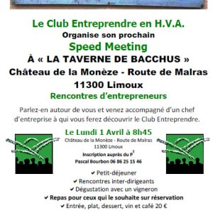 01/04/2019 – Speed meeting à Limoux