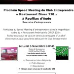 05/11/2018 : Speed meeting à Rouffiac d'Aude