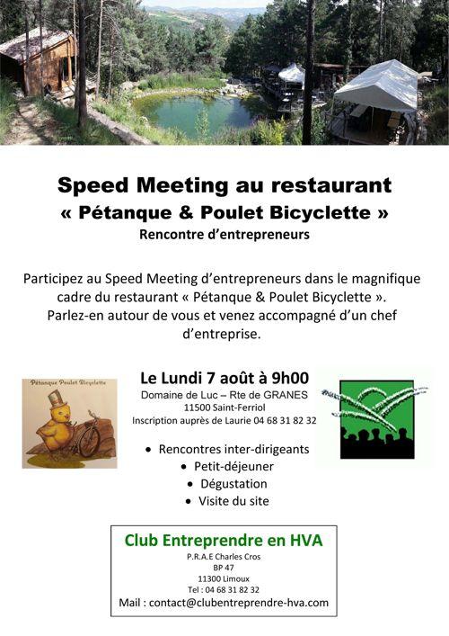 speed meeting à St-Ferriol