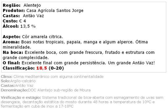 apreciacao Herdade dos Machados Antão Vaz Branco 2013