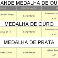 BEIRA INTERIOR - MEDALHADOS