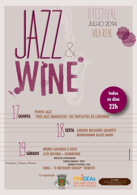 Festival Jazz&Wine 2014 - Flyer Frente