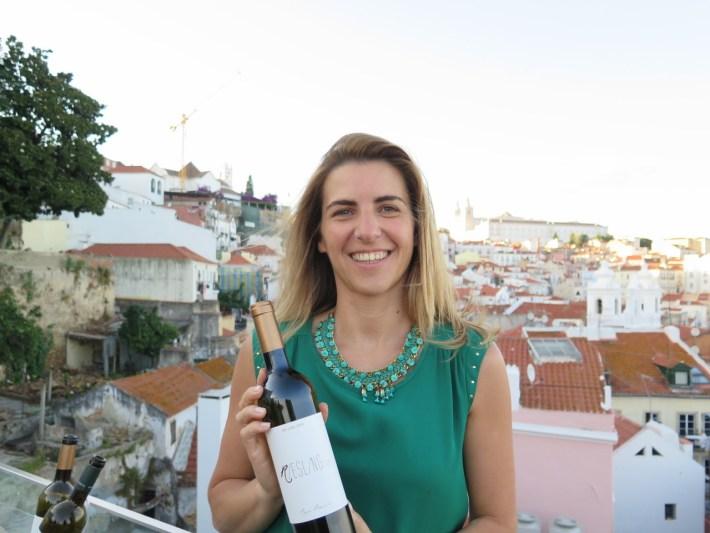 Engª Olga Martins com um Riesling para o Chef Rui Paula