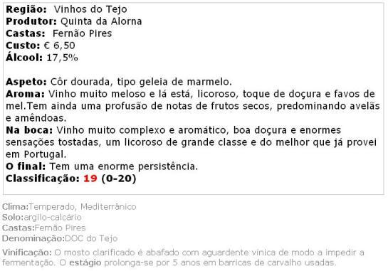 apreciacao Alorna Abafado 5 Years Licoroso 2008