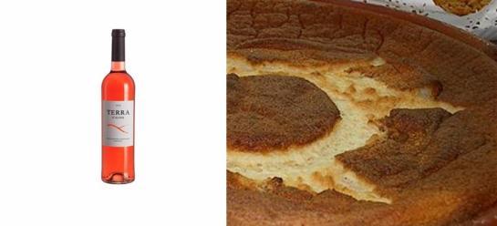 Ingredientes   6 ovos 1/2 de leite 250 gr de açúcar 90 gr de farinha 1 casca de limão canela em pó   Ferve-se o leite com a casca de limão. Depois dissolve-se a farinha num pouco de leite morno e junta-se ao  leite que se tinha posto a ferver. De seguida batem-se as gemas dos ovos com o açúcar e junta-se ao leite em fio. Vai ao lume para engrossar. Depois de frio juntam-se as claras batidas em castelo envolvendo-se bem. Depois num prato de barro próprio põe-se o preparado anterior e polvilha-se com canela e vai ao forno a cozer.
