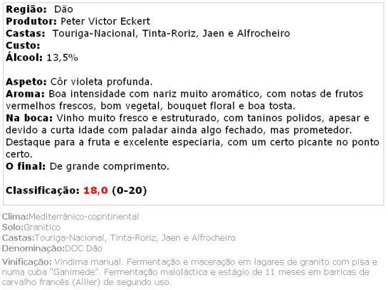 apreciacao Dão DOC Quinta das Marias Lote 2012