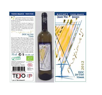 O 'Maximo'S 2012 branco' é o primeiro vinho português 100% vegan – sem qualquer vestígio animal -  que acaba de ser colocado à venda no mercado pelo produtor da região vitivinícola do Tejo, Alveirão Sociedade Agrícola do Vale Godinho.