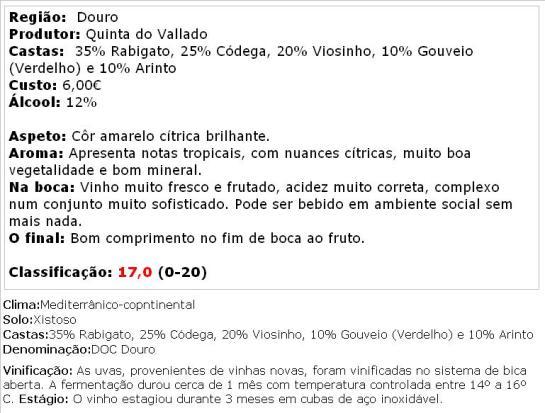 apreciacao Vallado Branco 2013