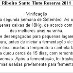 FT Ribeiro Santo Tinto Reserva 2011