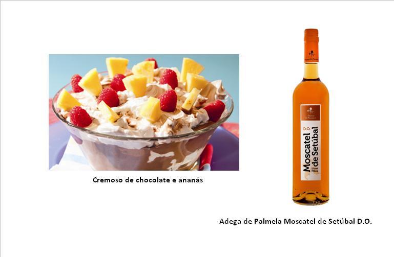 Cremoso de chocolate e ananás (clique na imagem para ampliar)