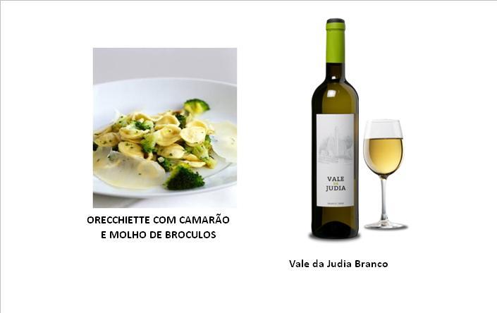 ORECCHIETTE COM CAMARÃO E MOLHO DE BROCULOS