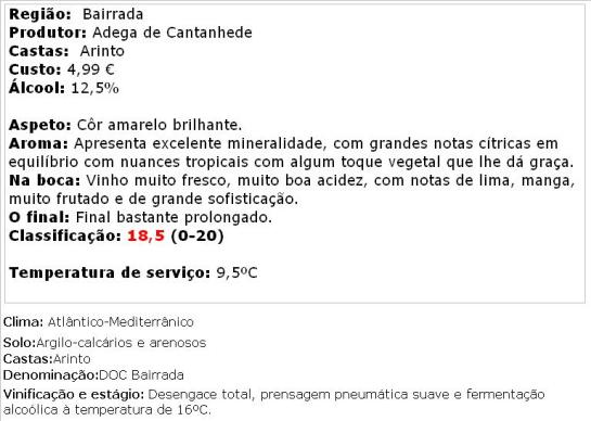apreciacao Marquês de Marialva Arinto Reserva Branco 2013