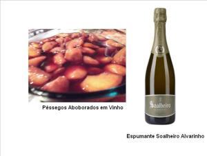 pPêssegos Aboborados em Vinho