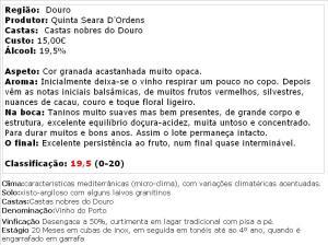 apreciacao Quinta Seara d' Ordens Porto LBV 2009