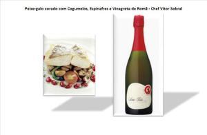 Peixe-galo corado com Cogumelos, Espinafres e Vinagreta de Romã