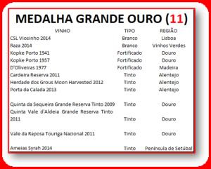 MEDALHAS GRANDE OURO