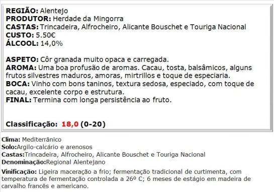 apreciacao Alfaraz Colheita Especial Tinto 2013