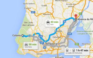 Colares  Sintra a Alverca do Ribatejo   Google Maps