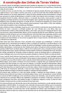 A construção das Linhas de Torres Vedras