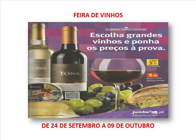 FEIRA DE VINHOS DO JUMBO - DE 24 DE SETEMBRO A 09 DE OUTUBRO