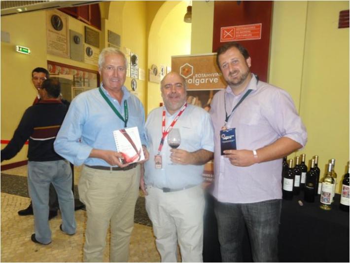 Com o Engº aníbal Neto da Rota de Vinhos do Algarve