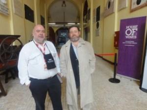 Com o anfitrião e organizador do Mercado, Sr. Tomás Caldeira Cabral