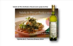 Salada de Pêra Grelhada e Rúcula (com queijo da ilha)