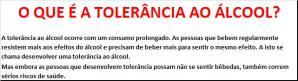 8 - O QUE É A TOLERÂNCIA AO ÁLCOOL