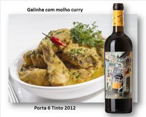 Galinha com molho curry