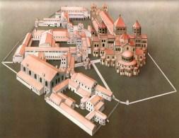 Maquete do Mosteiro de Cluny de onde sairam os Monges de Císter