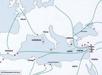 Rota de comércio de vinho dos Fenícios