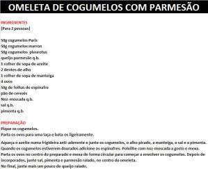 rpOMELETA DE COGUMELOS COM PARMESÃO