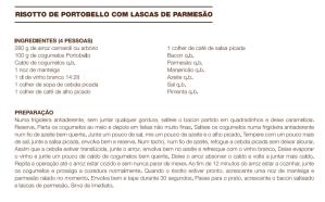 Risotto de Portobello com Lascas de Parmesão