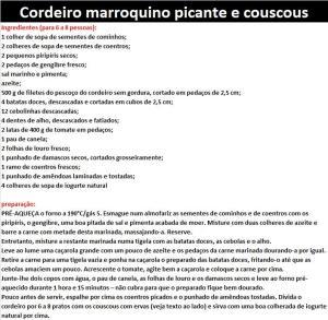 rpCordeiro marroquino picante e couscous
