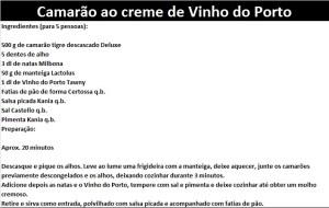 rpCamarão ao creme de Vinho do Porto
