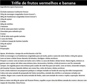 rpTrifle de frutos vermelhos e banana