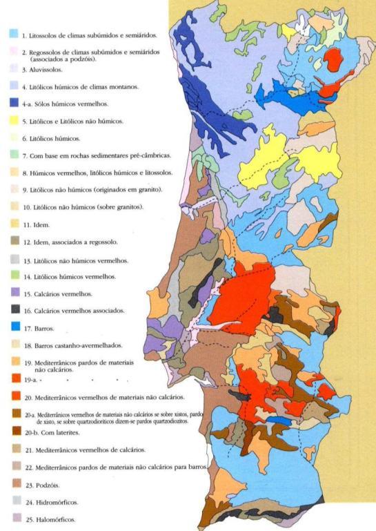 Mapa nacional de solos - clique para ampliar
