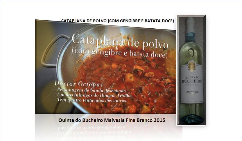 CATAPLANA DE POLVO (COM GENGIBRE E BATATA DOCE)